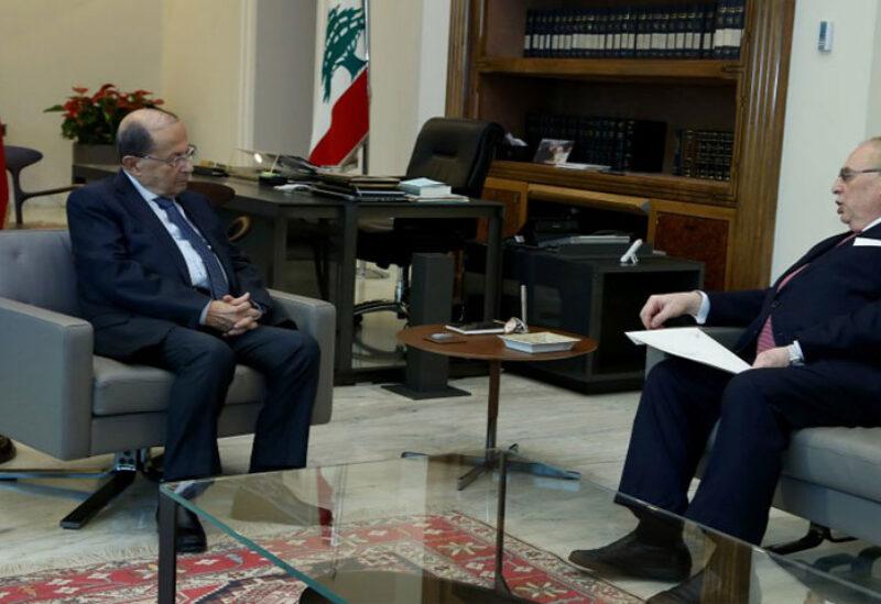 Aoun meets Farid Boustany