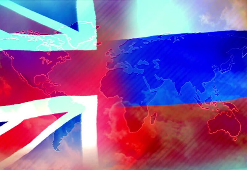British and Russian flags