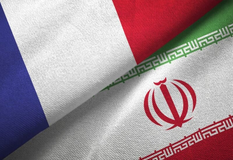 French and Iranian flags.