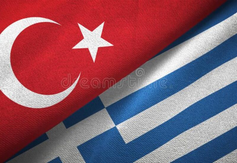 Greece and Turkey flags