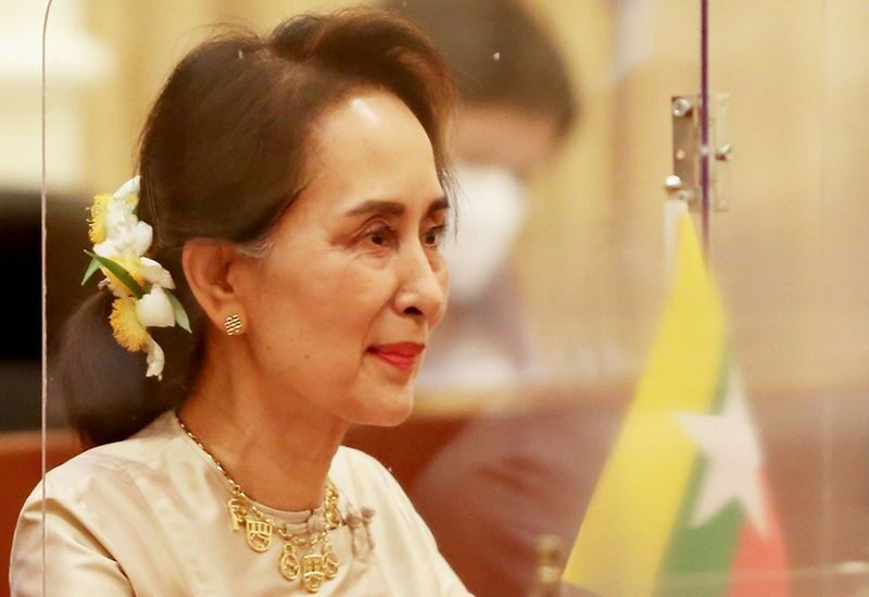 Myanmar ousted leader Aung San Suu Kyi