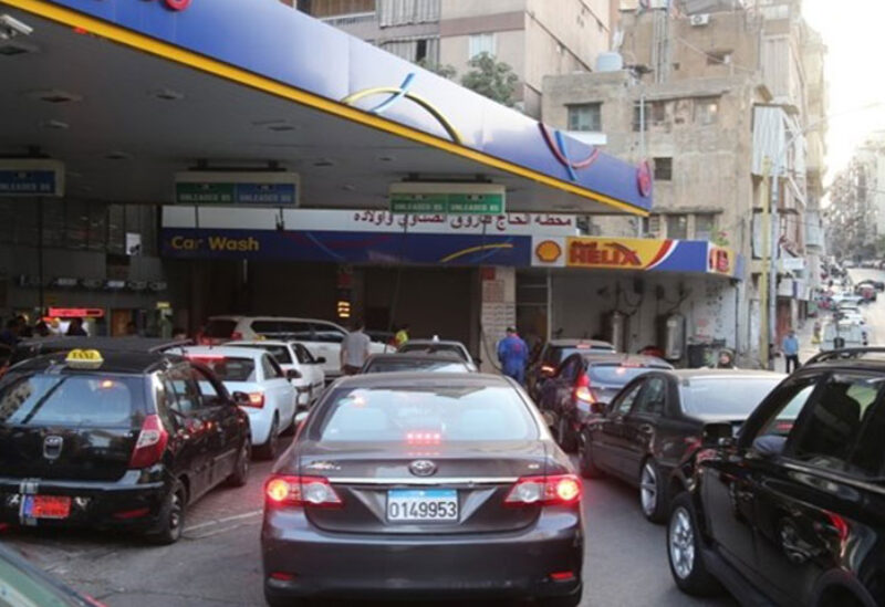 Queues of cars in gas stations
