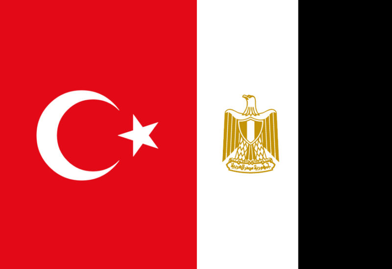Turkish and Egyptian flags