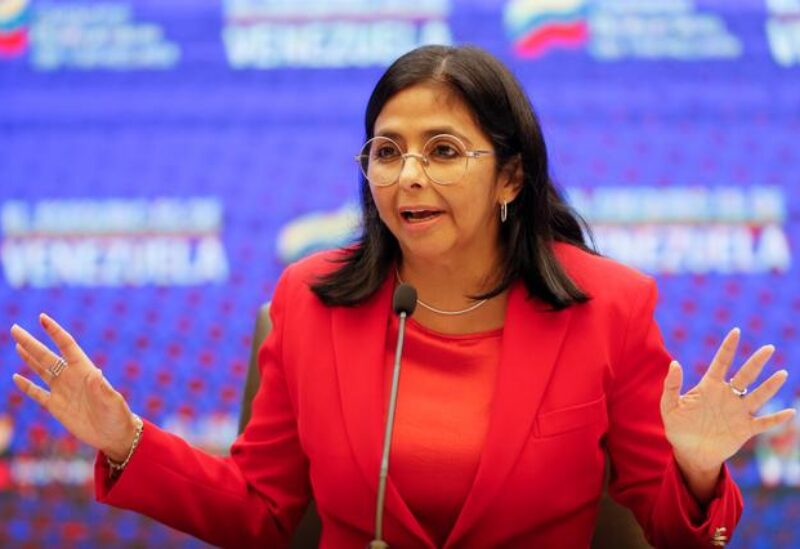 FILE PHOTO: Venezuela's Vice President Delcy Rodriguez speaks during a news conference in Caracas, Venezuela January 11, 2021.