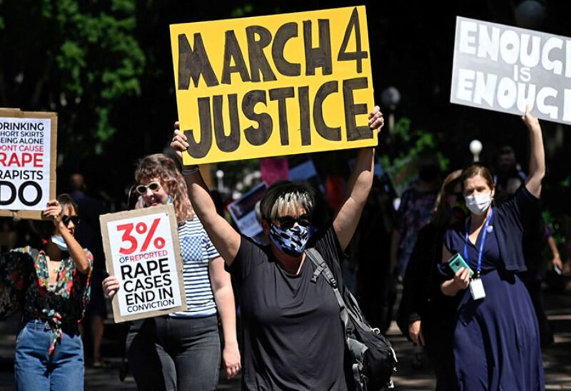 Women rally for gender equality and justice in Australia