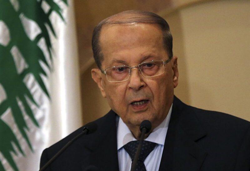 FILE PHOTO: Lebanese President Michel Aoun