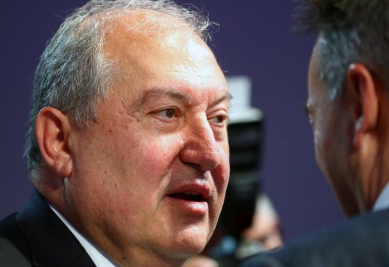 FILE PHOTO: Armenia's President Armen Sarkissian attends the opening of the 50th World Economic Forum (WEF) in Davos, Switzerland January 20, 2020.