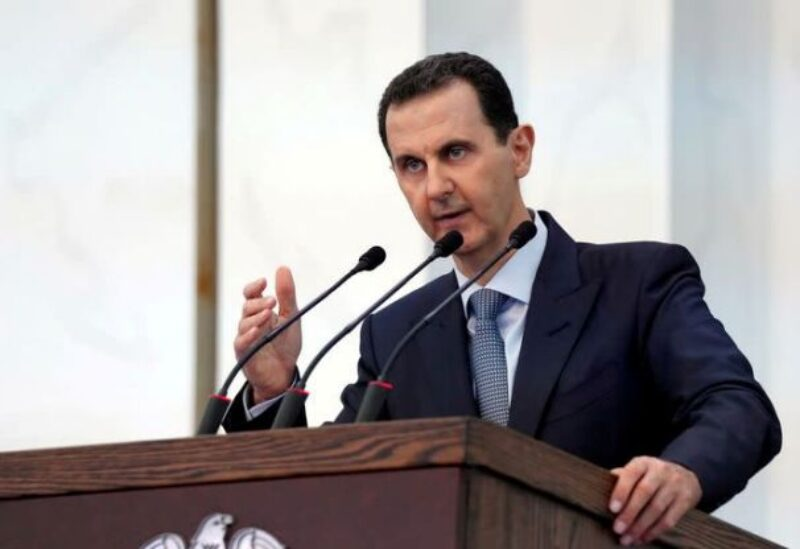 FILE PHOTO: Syria's President Bashar al-Assad addresses the new members of parliament in Damascus, Syria in this handout released by SANA on August 12, 2020.