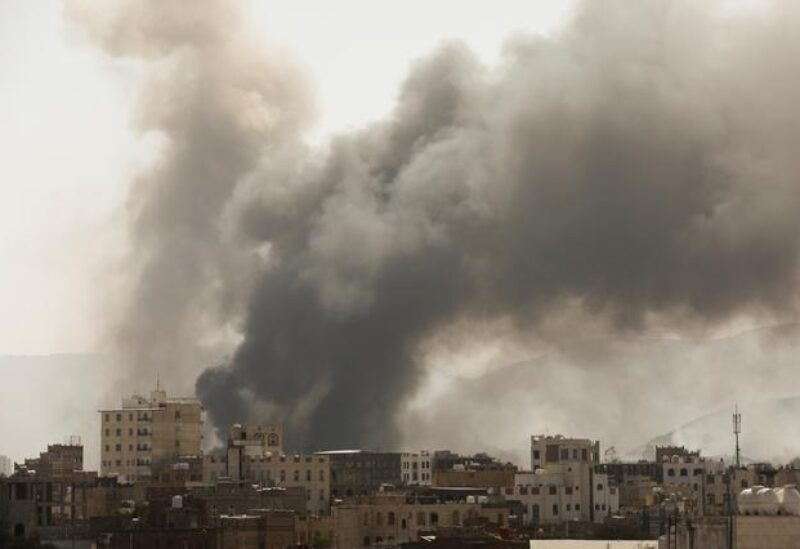 FILE PHOTO: Yemen's Houthi forces fired drones and missiles at the heart of Saudi Arabia's oil industry, March 8, 2021.