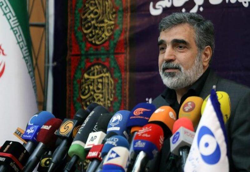 FILE PHOTO: Behrouz Kamalvandi, spokesman for the Atomic Energy Organization of Iran speaks during news conference in Tehran, Iran September 7, 2019.