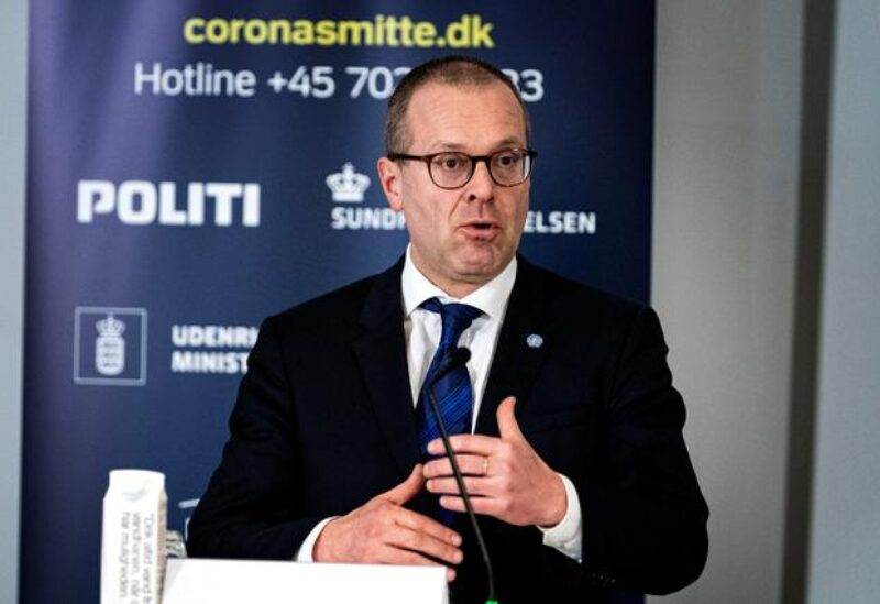 FILE PHOTO: World Health Organisation's Regional Director for Europe Hans Kluge speaks during a news conference about the coronavirus disease (COVID-19) at Eigtveds Pakhus, in Copenhagen, Denmark March 27, 2020.