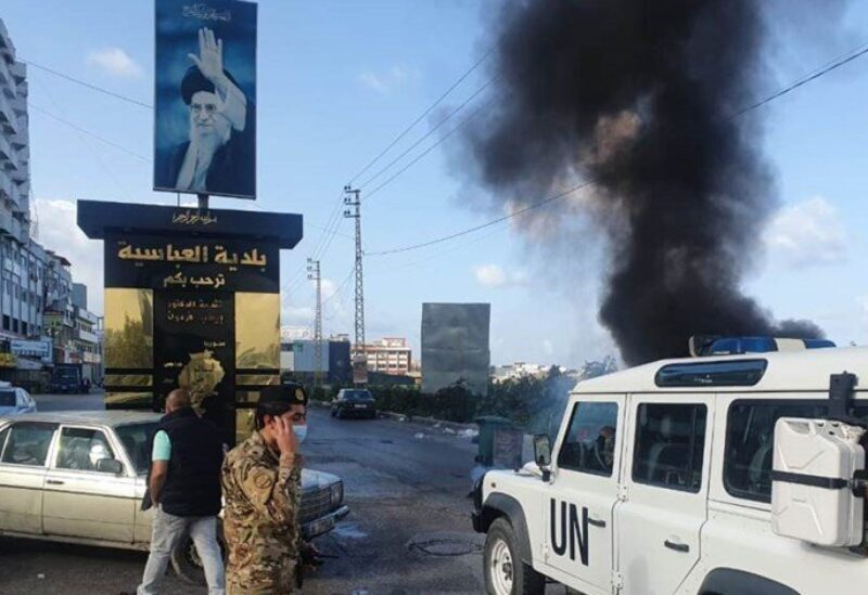 Protester tries to set himself on fire at Al-Abbasiyah intersection on March 8, 2021