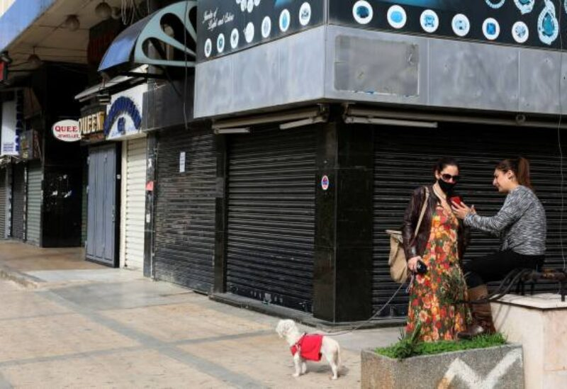 Shops in a neighborhood east of Beirut remain closed during lockdown. Already prostrated by a compounded financial, fiscal, debt and banking crisis, the pandemic has squeezed any remaining life out of the economy.