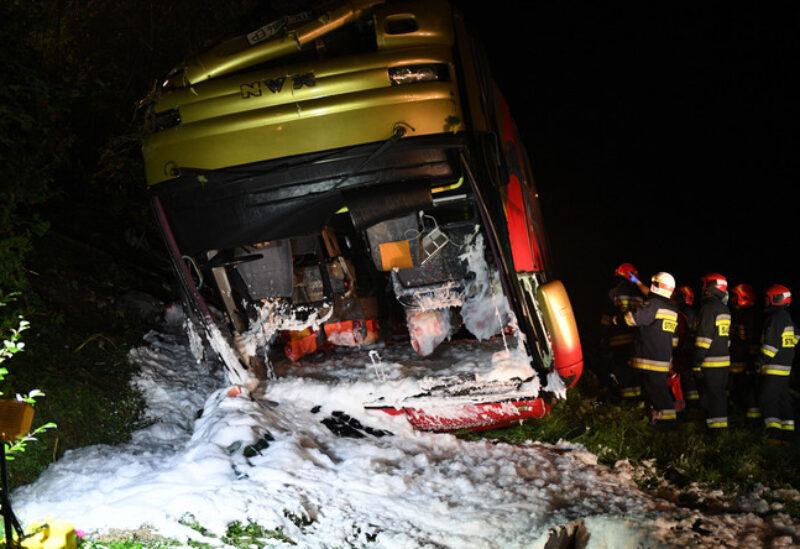 Bus crash in Poland