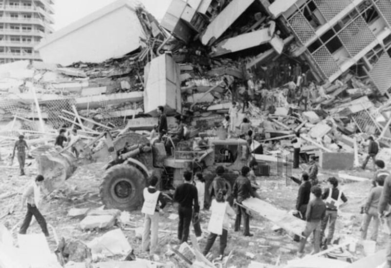 FILE PHOTO: The destruction seen in the wake of the bombing that shook the Iraqi Embassy in Beirut on Tuesday, December 15, 1981.