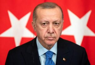 FILE PHOTO: Turkish President Tayyip Erdogan attends a joint news conference following talks with Russian President Vladimir Putin in Moscow, Russia March 5, 2020.
