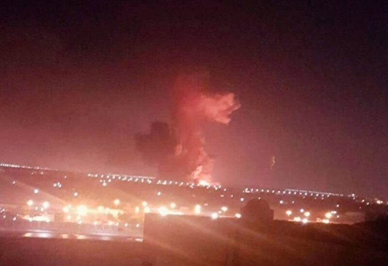 FILE PHOTO: This photo provided by Taher Amer Fathy shows an explosion at a chemicals factory in Cairo on Thursday, July 12, 2018.