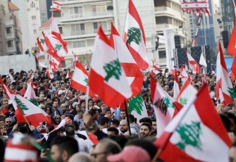 FILE PHOTO: Protesters stage mass rally in the Lebanese capital, Beirut