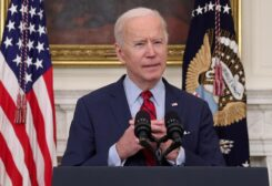 FILE PHOTO: U.S. President Joe Biden speaks about the mass shooting in Colorado from the State Dining Room at the White House in Washington, U.S., March 23, 2021.