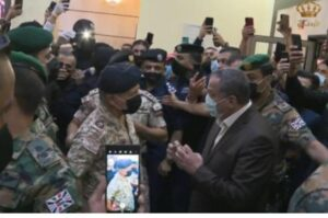 Jordan King Abdullah visiting AL-Salt hospital.