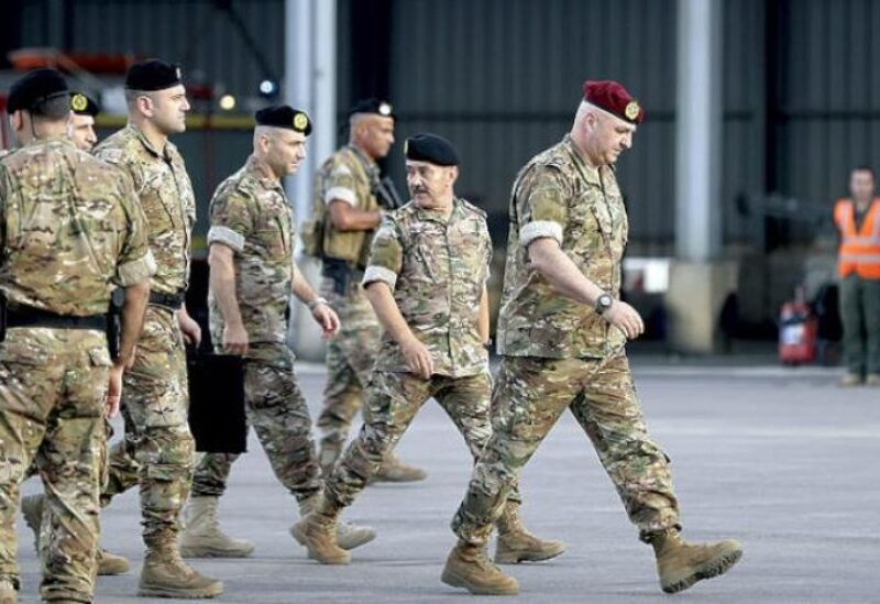 FILE PHOTO: Joseph Aoun, Commander of the Lebanese Armed Forces.