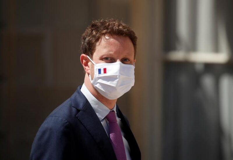 France's Europe minister, Clement Beaune, wearing a protective face mask