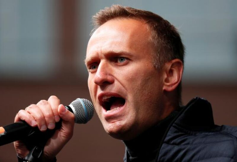 FILE PHOTO: Russian opposition leader Alexei Navalny delivers a speech during a rally to demand the release of jailed protesters, who were detained during opposition demonstrations for fair elections, in Moscow, Russia September 29, 2019.