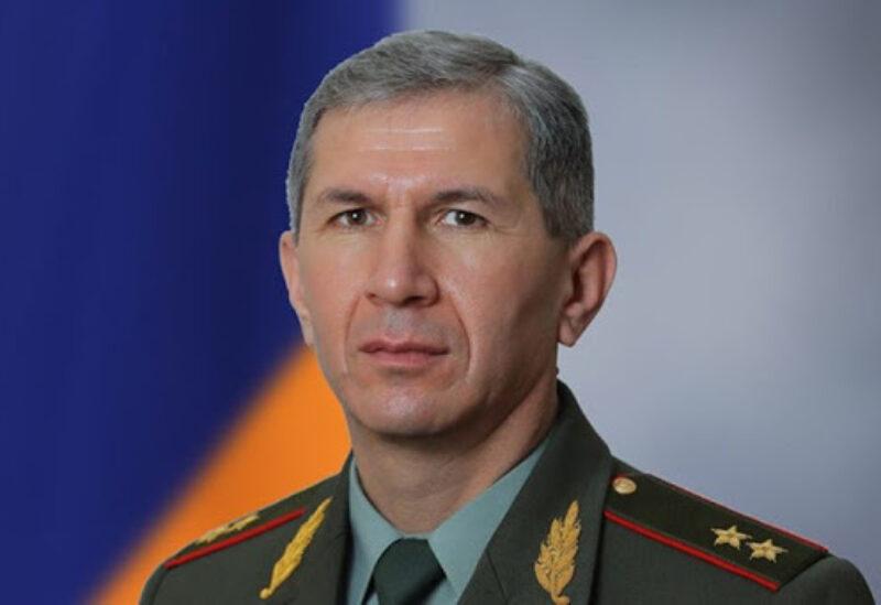 FILE PHOTO: Onik Gasparyan, head of the Armenian army's general staff