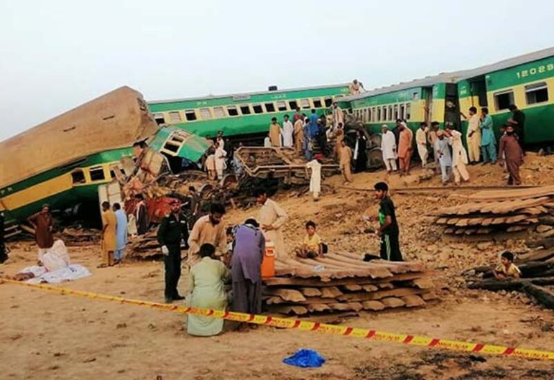 Archive photo of a train accident in Pakistan