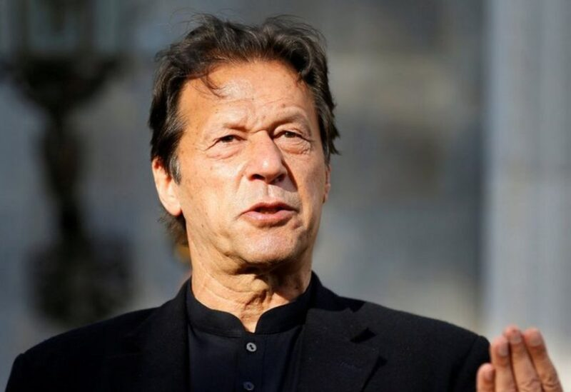 FILE PHOTO: Pakistan's Prime Minister Imran Khan speaks during a joint news conference at the presidential palace in Kabul, Afghanistan November 19, 2020.