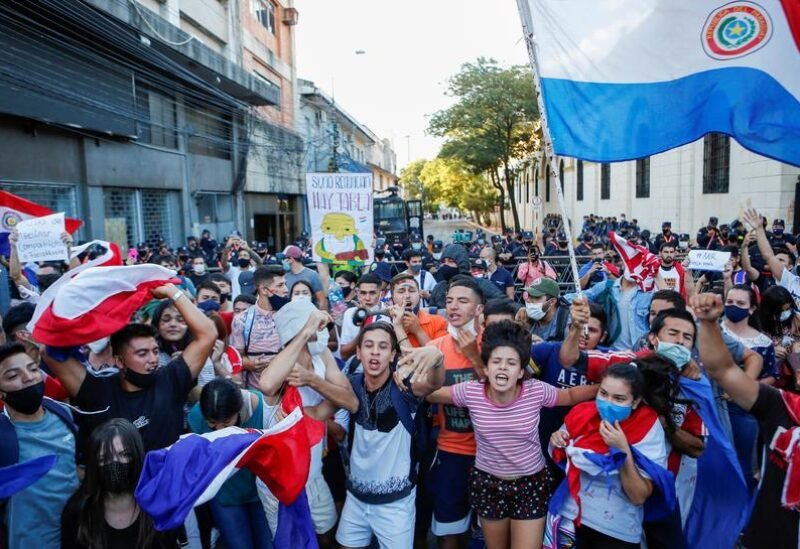 Protesters take to the streets in Paraguay