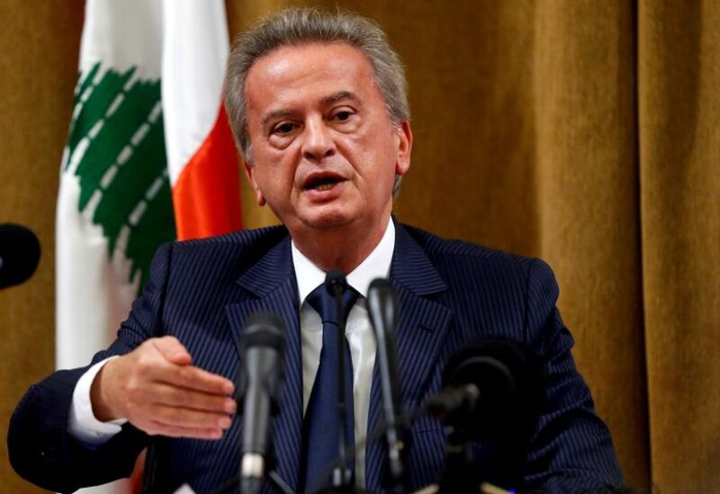 FILE PHOTO: Lebanon's Central Bank Governor Riad Salameh speaks during a news conference at Central Bank in Beirut, Lebanon, November 11, 2019.