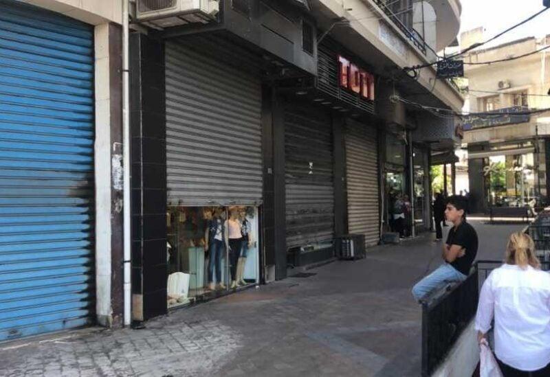 Shops in Sidon's market