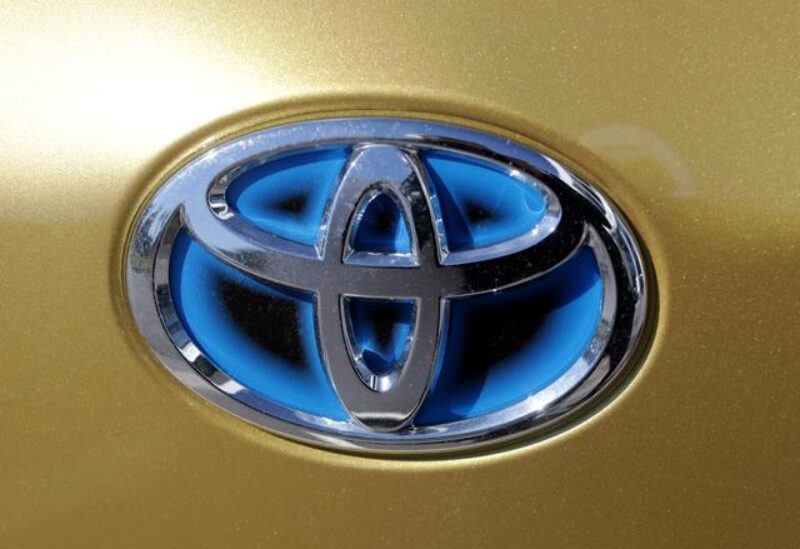 FILE PHOTO: The logo of Toyota carmaker is seen on a car in Nice, France, April 8, 2019.