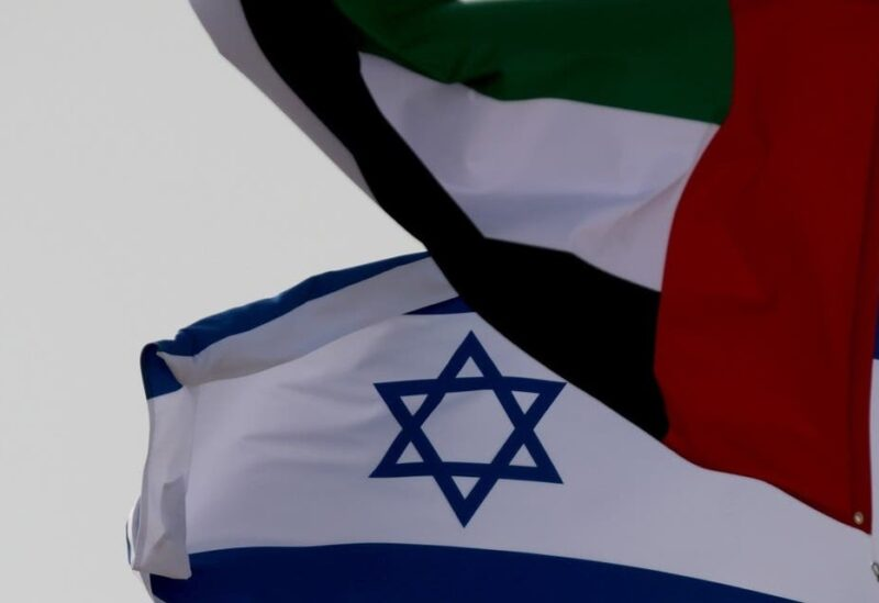 The Emirate and Israeli's flags