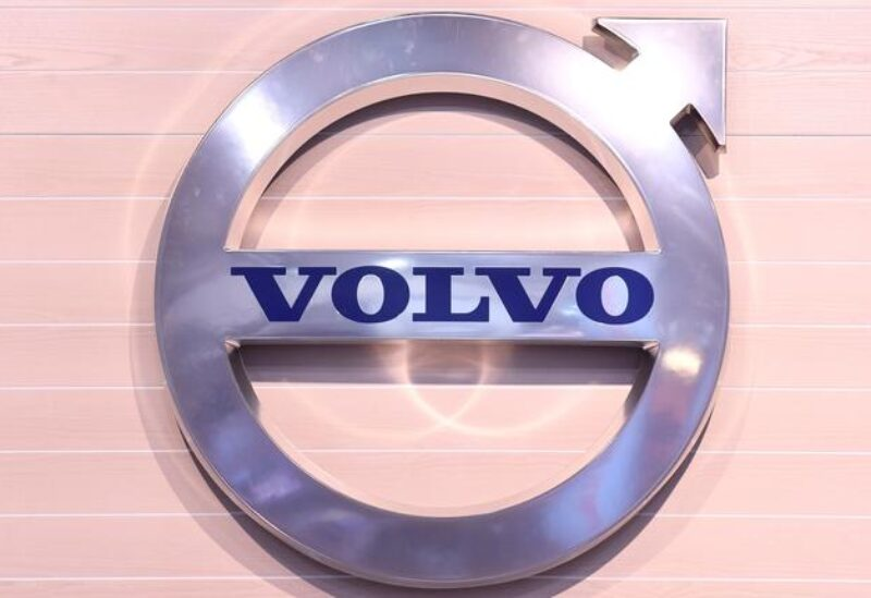 FILE PHOTO: The logo of Swedish truck maker Volvo is pictured at the IAA truck show in Hanover, September 22, 2016.