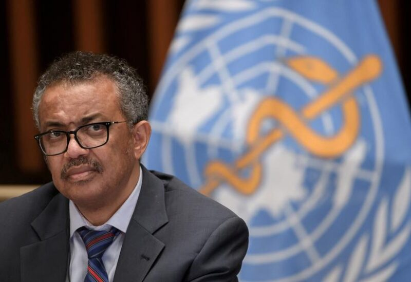 FILE PHOTO: World Health Organization (WHO) Director-General Tedros Adhanom Ghebreyesus attends a news conference organized by Geneva Association of United Nations Correspondents (ACANU) amid the COVID-19 outbreak, caused by the novel coronavirus, at the WHO headquarters in Geneva Switzerland July 3, 2020.