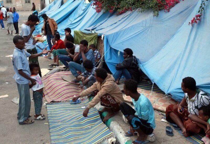 African migrates in Sanaa