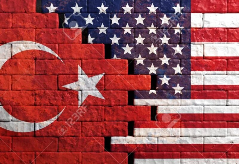 American and Turkish flags