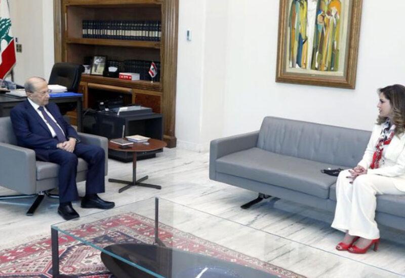 Aoun meets Abdel Samad in Baabda Palace