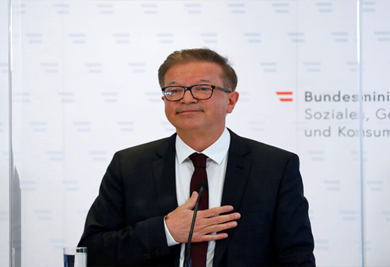 Austria's health minister Rudolf Anschober