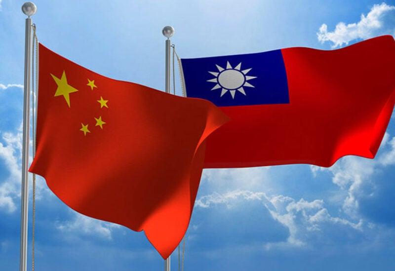 China and Taiwan flags