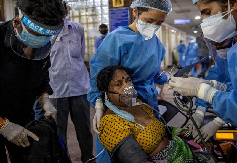 Covid-19 patients using respirators