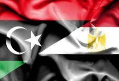 Egyptian and Libyan flags