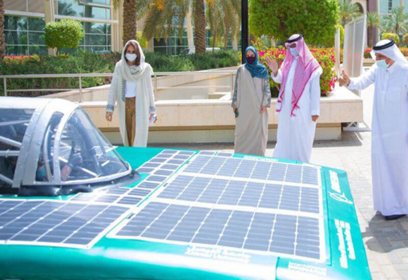 First solar car launched by Saudi students