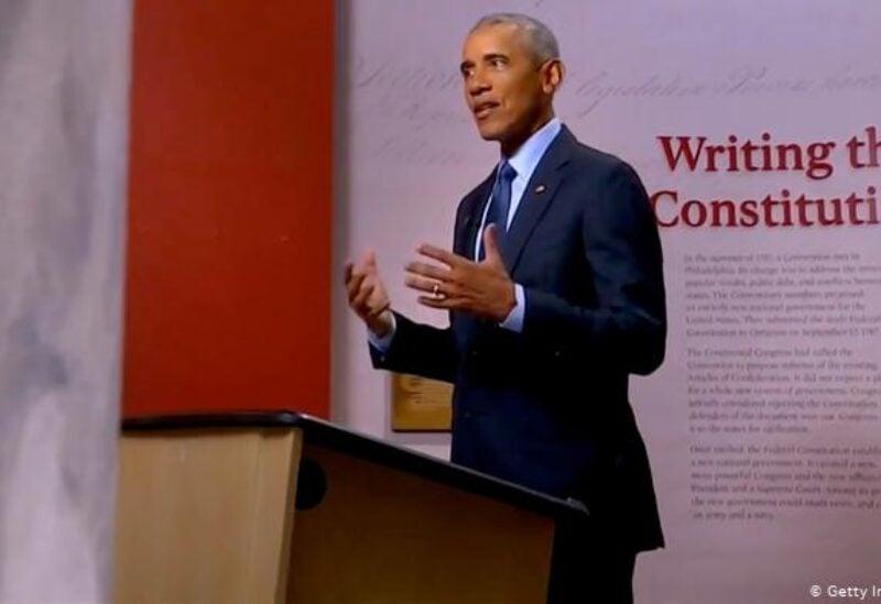 Former US president Barak Obama