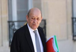 French Foreign Minister Jean-Yves Le Drian.