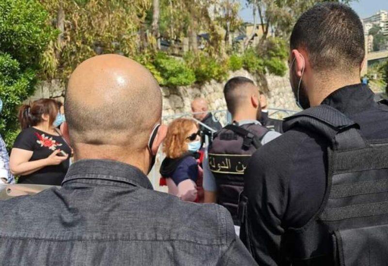Ghada Aoun in front of Mkattaf company