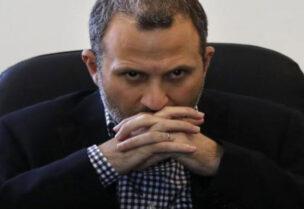 Head of Free Patriotic Movement Gebran Bassil