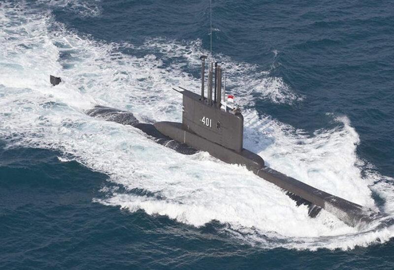 Indonesian submarine in Bali Sea